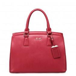 Women's leather handbag brown