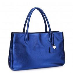 NUCELLE Real leather handbag black