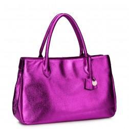 NUCELLE Trendy leather handbag brown