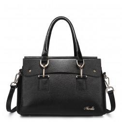 NUCELLE Leather purse satchel black