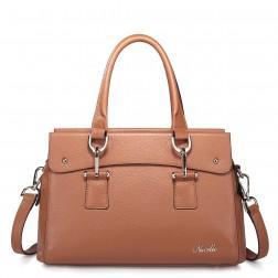 Women's leather shoulder bag pink