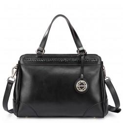Genuine leather handbag red