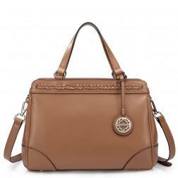 Genuine leather handbag black 1170468-01