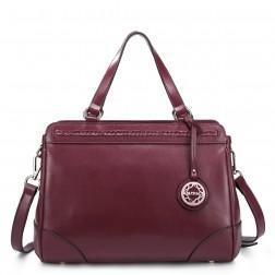 Genuine leather handbag blue 1170468-06