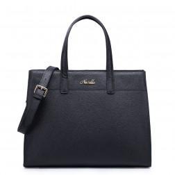 Elegant leather handbag brown