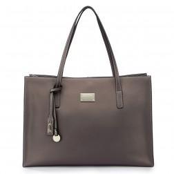 Elegant leather lady bag pink