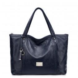 NUCELLE Genuine leather handbag brown