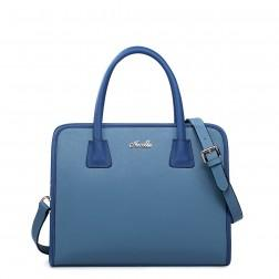 NUCELLE Genuine leather handbag blue