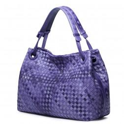 Weaving melody series high-grade sheep leather bag Purple