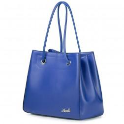 Big size Genuine leather Lady handbag Apricot