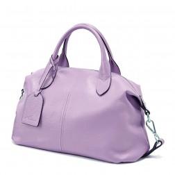 NUCELLE elegant cowhide big size handbag blue