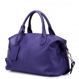 NUCELLE Cowhide women handbag blue