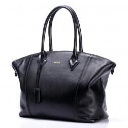 NUCELLE elegant cowhide big size handbag grey