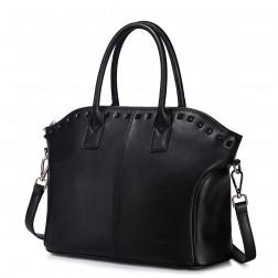 women leather handbag Black