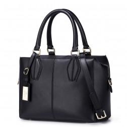 Fashion leather lady shell handbag Black