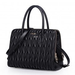 Women real leather bag black