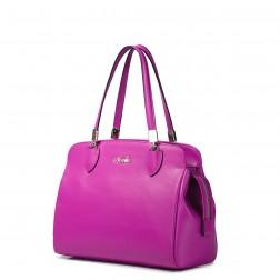 Women handbag genuine leather apricot
