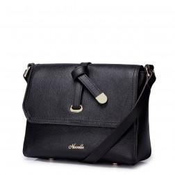 Layer cowhide bag Black