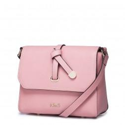 Layer cowhide bag Pink