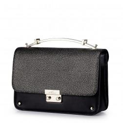 Light sweet elegance series leather bag Black