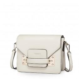 NUCELLE colorful leather messenger bag beige