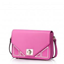 Genuine leather women messenger bag pink