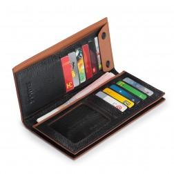 SAMMONS Men's wallet genuine leather black