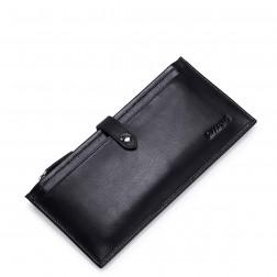 SAMMONS Men wallet brushed leather black