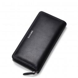 SAMMONS Men wallet brushed leather brown
