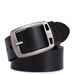Leather men belt deep coffee