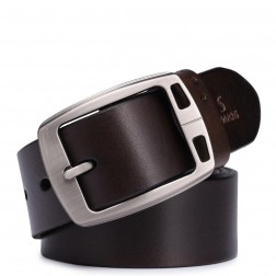 SAMMONS genuine leather men belt brown